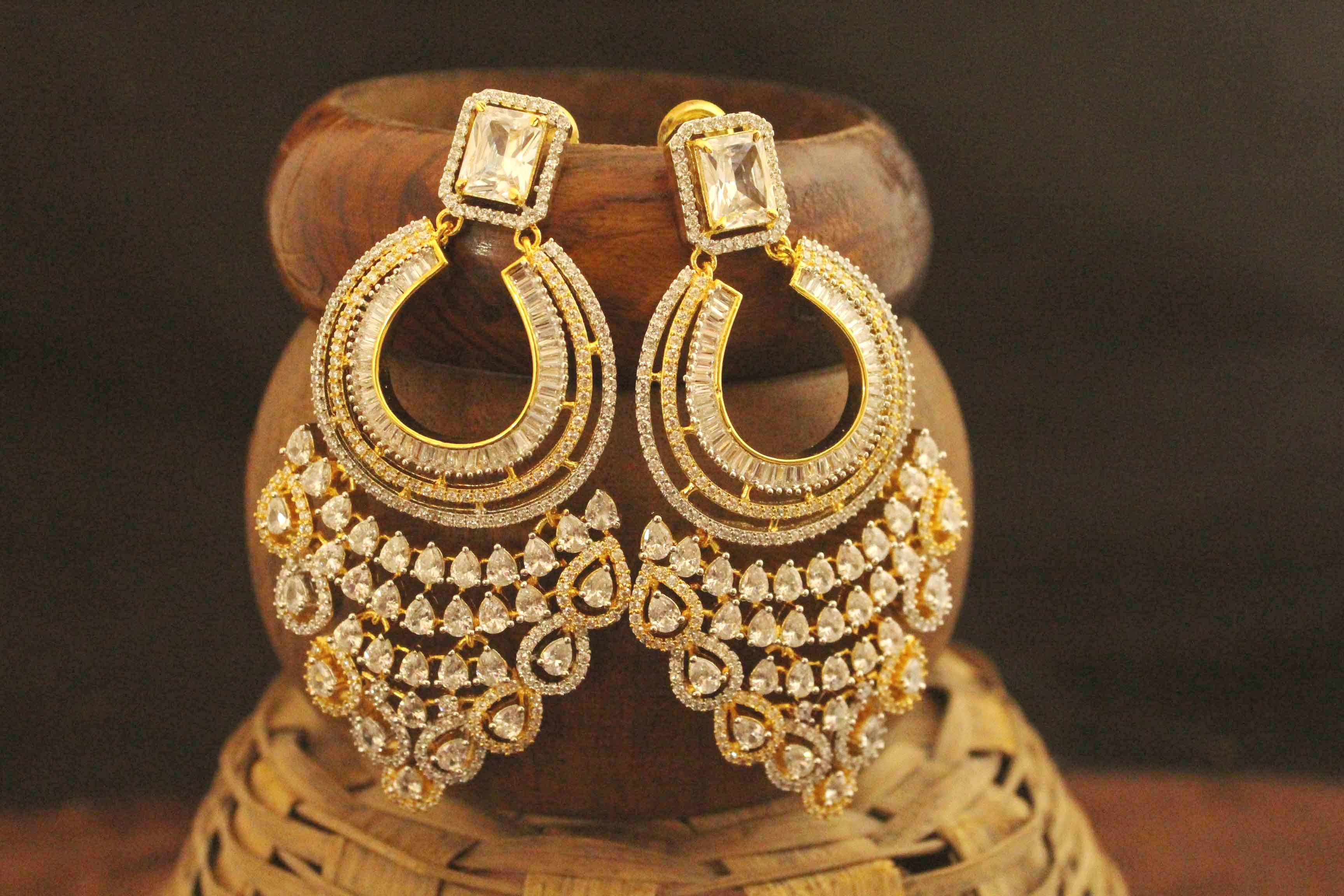 exclusive products finished punjabi khairah jewellery traditional american pearl ptjex diamond eb earrings gold