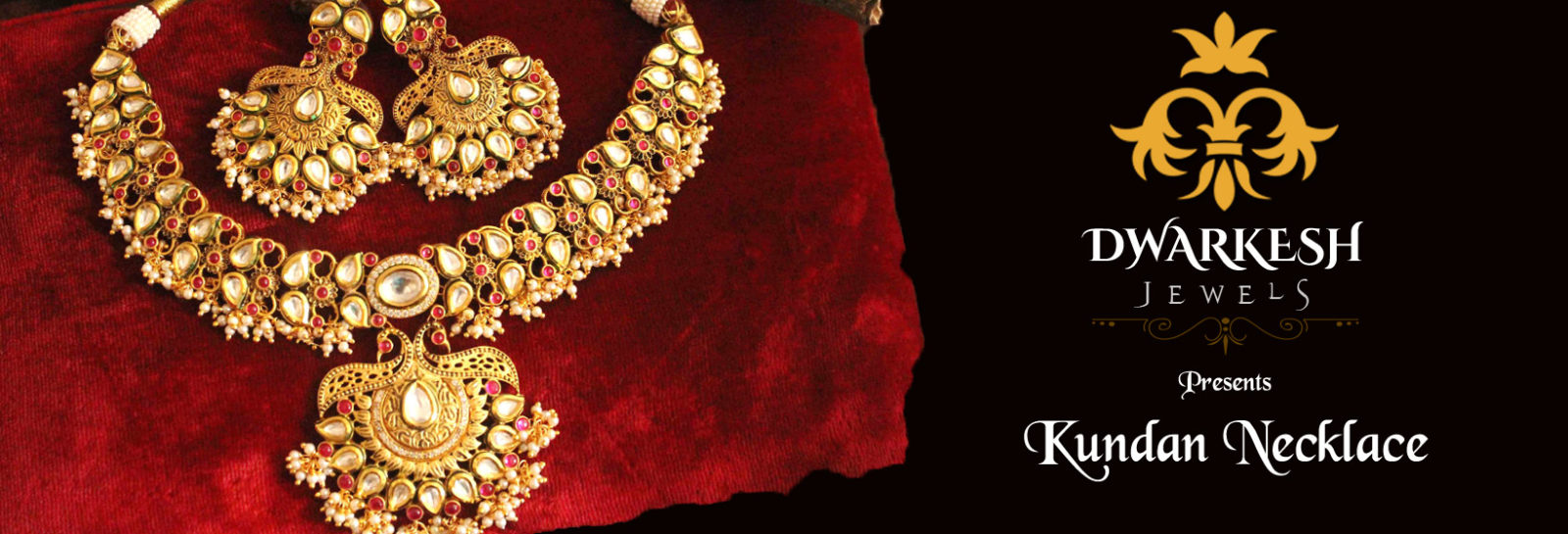 Dwarkesh Jewels - Kundan Designer Necklace